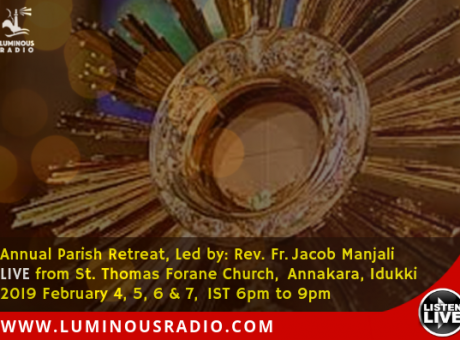 Retreat by Fr. Jacob Manjali